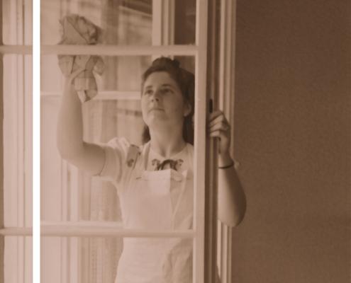 schoonmaken vrouw